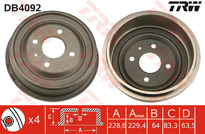 FORD CAPRI 2.8 Brake Drum Rear 81 to 87 DB4092 TRW 1457721 1466282 1473957 New