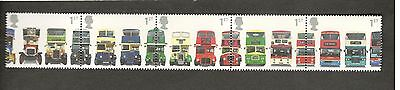 2001 Great Britain #1976a BUSES Strip of MNH stamps