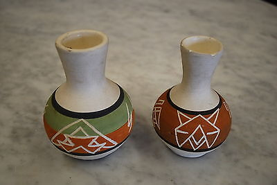 Mid Century Sioux American Indian Pottery Vases (TWO)