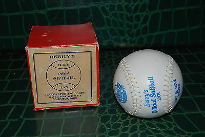 """OFFICIAL SOFTBALL"" UNUSED NEW 'OLD STOCK' 12 INCH BALL - 1940's MINT CONDITION"