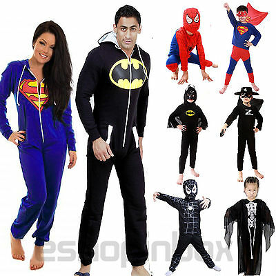Halloween Kids Adult Fancy Dress Hooded Cosplay Costume Playsuit Jumper Outfits