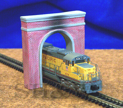 Brick Single Track Tunnel Portal in N scale - Twin Pack