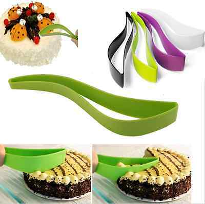 Plastic Cake Knife Wedding Cake Cutter Holder Server Party Clamp Baking Tool