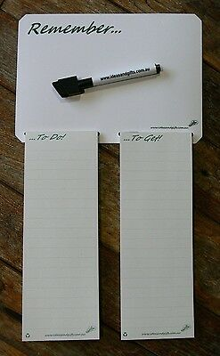 A5 Shopping List Fridge Magnet Notepad Family Reminder Whiteboard Office Memo