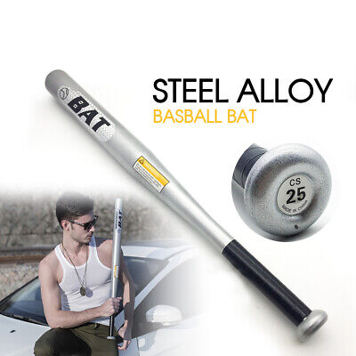 "25"" 63cm Steel Alloy Silver Baseball Bat Racket Softball Outdoor Sports AU stock"