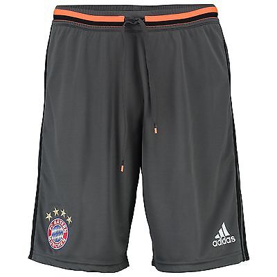 adidas Mens Gents Football Soccer Bayern Munich Training Shorts Bottoms - Grey