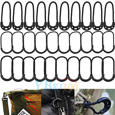 10pcs Outdoor EDC Black Zip Zipper Pulls Cord Rope For Clothing Backpack 3 Types