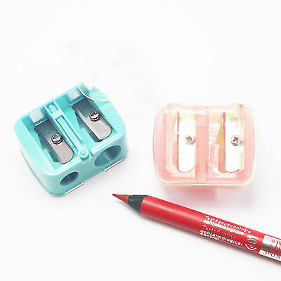 Precision Cosmetic Pencil Sharpener for Eyebrow Lip Liner Eyeliner 2 Holes