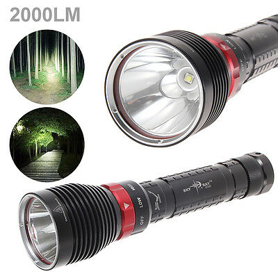 DX1 SKYRAY 2000LM CREE XM-L L2 LED Diving Flashlight Lamp Torch Underwater 100M