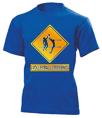 VOLLEYBALL CROSSING KINDER T-Shirt 116 bis 164 Vers. Farben