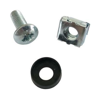 """50 Pack M6 Cage Nuts and Bolts Screws Washers 19"""" Data Cabinet Rack Mount Server"""