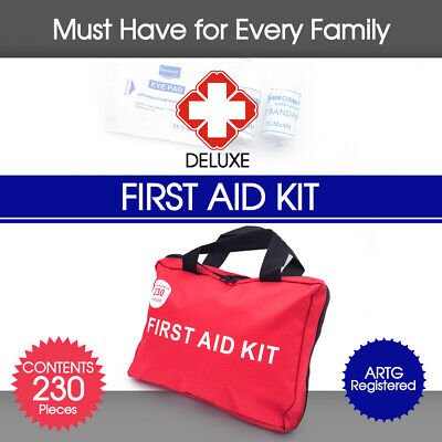 230pcs Emergency First Aid Kit Bag Family Office Boat Holiday ARTG Registered