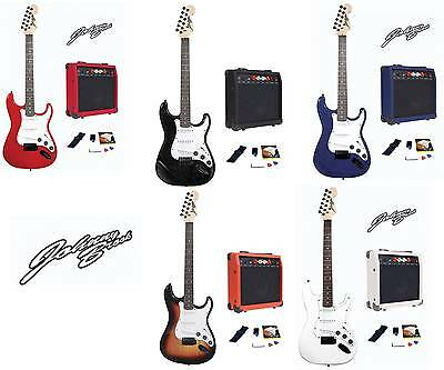 Johnny Brook Electric Guitar Kit Set & 20W Amplifier Music Perfect Gift Package