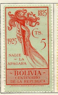 Bolivia 1925 Early Issue Fine Mint Hinged 5c. 096605