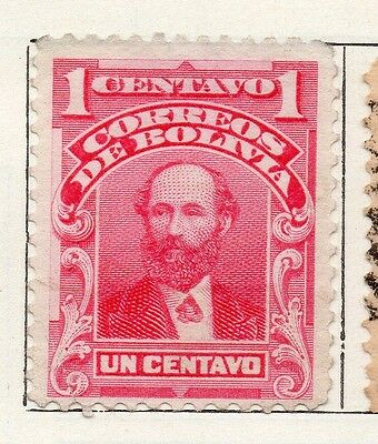 Bolivia 1913 Early Issue Fine Mint Hinged 1c. 096616