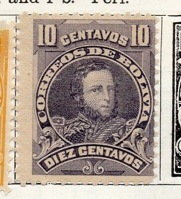 Bolivia 1913 Early Issue Fine Mint Hinged 10c. 096620