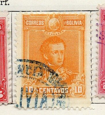 Bolivia 1899-1901 Early Issue Fine Used 10c. 096640