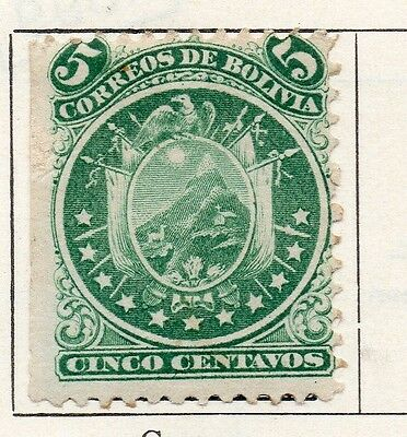 Bolivia 1871 Early Issue Fine Used 5c. 096650
