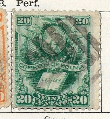 Bolivia 1878 Early Issue Fine Used 20c. 096653