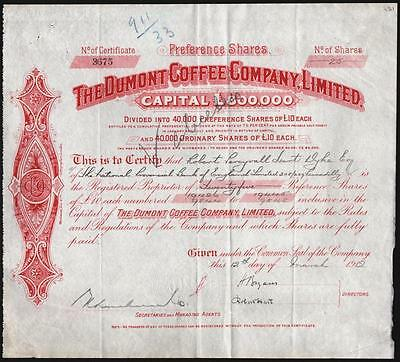 1912 Brazil: The Dumont Coffee Company