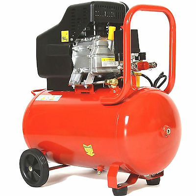 50 Litre 8 Bar Twin Outlet 2850 Rpm 115 Psi 3Hp Electric Air Tool Compressor New