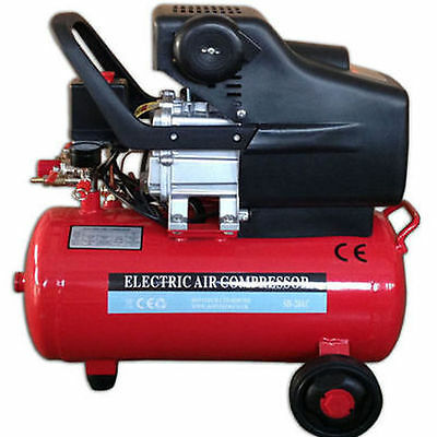 24 Litre 8 Bar Twin Outlet 2850 Rpm 115 Psi 2Hp Electric Air Tool Compressor New