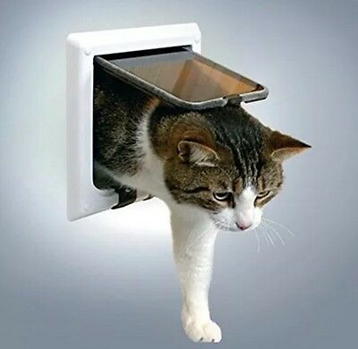 Trixie 38641 4-Way Cat Flap with Tunnel White