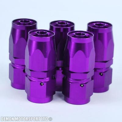 AN6 -6 6AN Straight Hose Fitting (5 Pack) JIC For Braided Hose Purple New