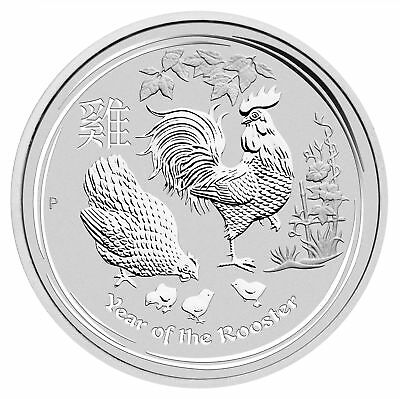 2017-P $8 5oz Silver Australian Year of the Rooster .9999 fine BU