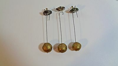 3 EARLY 19c. COUNTERBALANCE CHRISTMAS TREE CANDLE HOLDERS HOLIDAY TREE WEIGHTS
