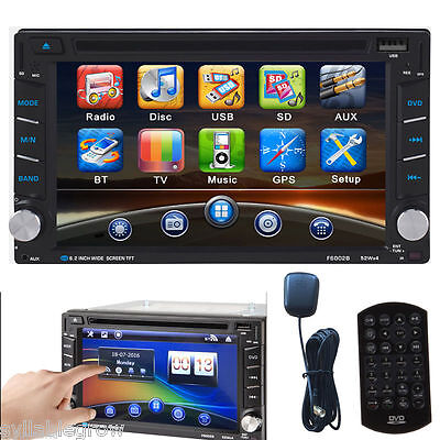 "6.2"" Coche Reproductor Táctil GPS Navegación Bluetooth Autoradio DVD Player MP3"