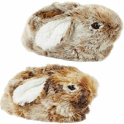 New Ladies Gorgeous Rabbit Bed Warm Mules Women Shoes Plimsolls Winter Slippers