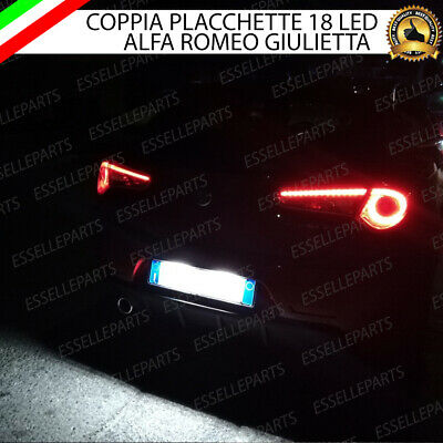 Coppia Placchette A Led Luci Targa 18 Led Alfa Giulietta 6000K Ultraluminosi