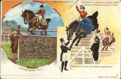 German Barnum & Bailey Circus Multi-View c1900 Postcard #2 gfz