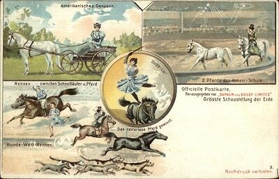 German Barnum & Bailey Circus Multi-View c1900 Postcard #3 gfz