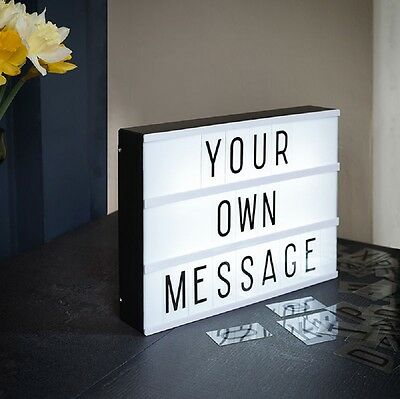 A4 Cinema Light Up Letter Box Cinematic LED Mood Board Lighting message