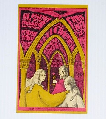 Bill Graham Fillmore Postcard #91 Postcard Pink Floyd Big Brother