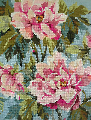 ANCHOR - Peony - Vintage Floral Needlepoint Tapestry - Canada - Mid 20th Century