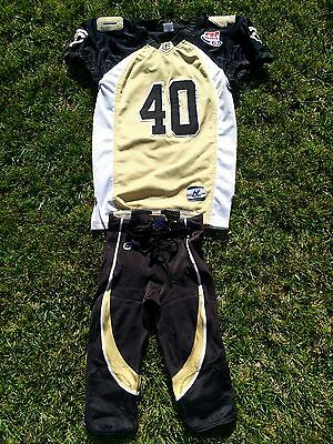 Youth League Saints Football Uniform Game Jersey and Pants, Youth Medium/Large