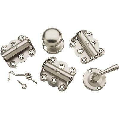 Screen Storm Door Nickel Hinge Pull Latch Handle Repair Rebuild Kit N100013