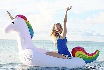 Aussie Stock - Inflatable Unicorn Pool Float - Giant Ride-on Toy - Free Shipping