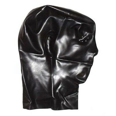 Latex Anatomical Mask with Perforated Eyes - Rubber Hood Fetish Shiny Kinky
