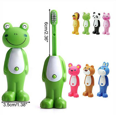 Kids Baby Toddler Cute Cow Rabbit Soft Toothbrush Oral Dental Care Tool