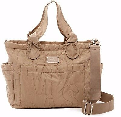 NWT Marc By Marc Jacobs Core Pretty Nylon Eliz-A-Baby Diaper Tote Bag Cement