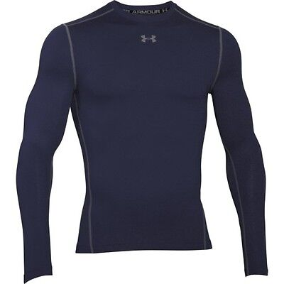 Under Armour Cg Compression Crew Hommes Seconde Peau - Midnight Navy