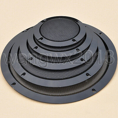 """1//2//3//4//5//6//8//10/""""inch Speaker grille Decorative circle Protective cover Silver"""