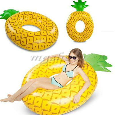 Inflatable Swim Ring Swimming Pool Fun Water Float Raft Beach Bed Lounger Toy