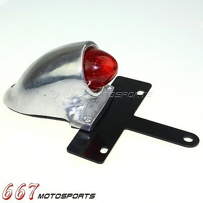 Sparto Style Motorcycle Tail Light License Plate Mount For Harley Bobber Chopper