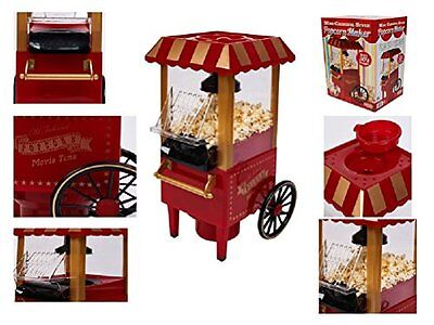 30''s Carnival Popcorn Maker Hot Air No Oil Fat Free Cinema Sweet Salted