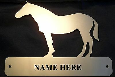 Personalised Standing Horse Name Plate